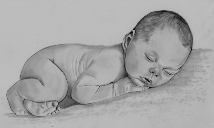 Human Form One Day Old by Barb Baker