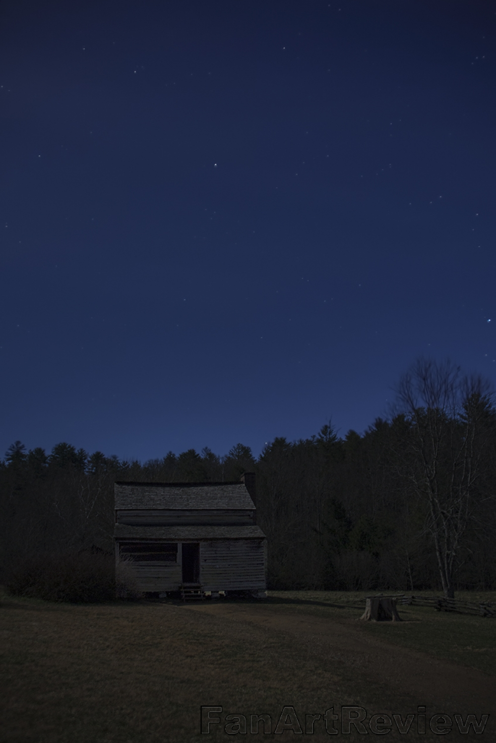 Night Sky Over Cades Cove by Paul G