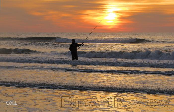 Wildwood by the sea by decarson for Surf fishing at night